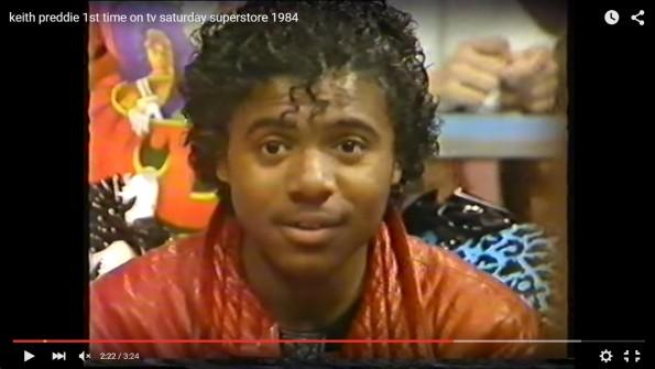Keith Preddie 1st time on tv Saturday Superstore 1984